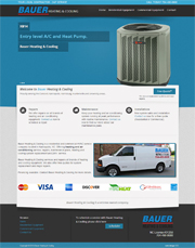 Heating and Cooling web design