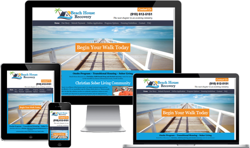 drug rehab web design