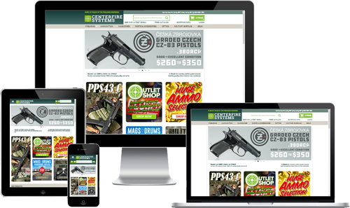gun shop web design