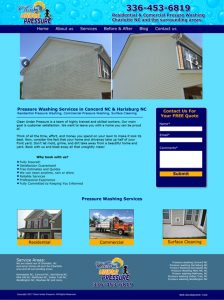 pressure washing web design