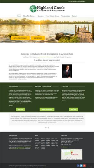 chiropractor web design