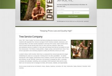 Tree Service Web Design