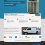 heating & cooling web design