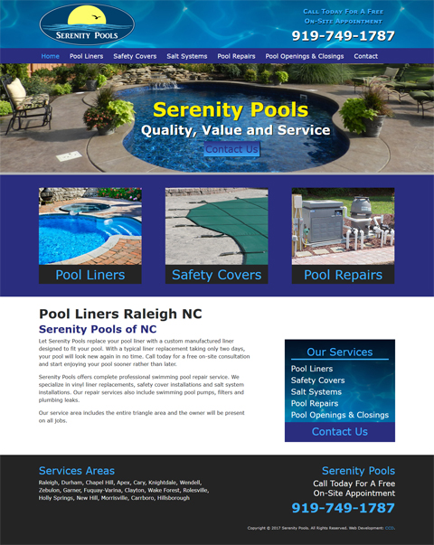 pool company web design