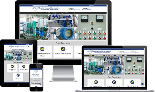 waste water treatment web design