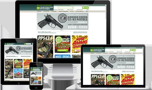 gun shop web design