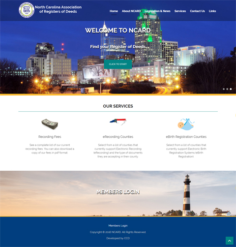 Register of Deeds web design